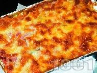 Рецепта Запеканка от цели картофи с бекон и кашкавал на фурна